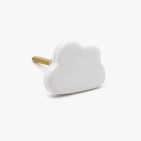 Ceramic Cloud Drawer Knob
