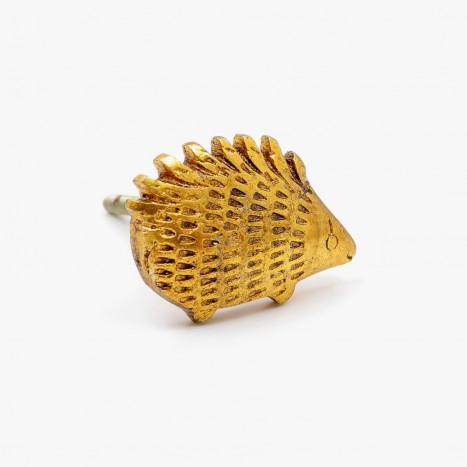 Golden Hedgehog Cupboard Knob