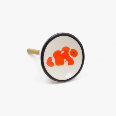 Sea Life Drawer Knob - Clown Fish (B)