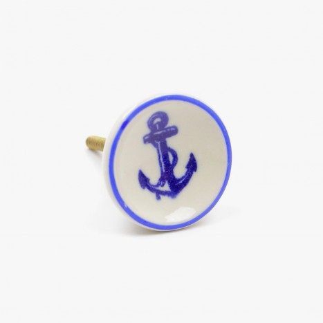 Sea Life Drawer Knob - Anchor (A)