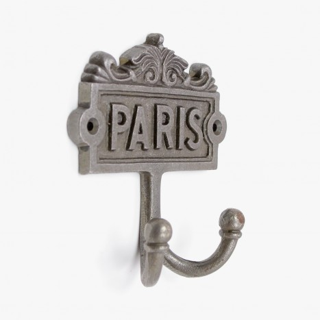 French Paris Plaque Robe Hook