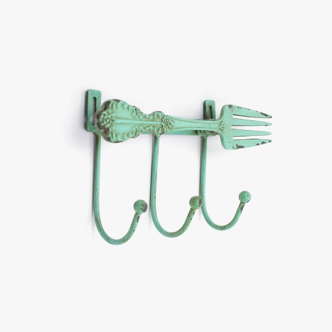 Kitchen Cutlery Coat Hook - Green