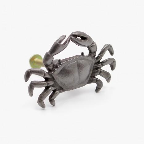 Coastal Crab Cupboard Knob - Grey