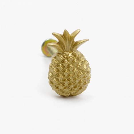 Party Pineapple Cupboard Knob - Gold