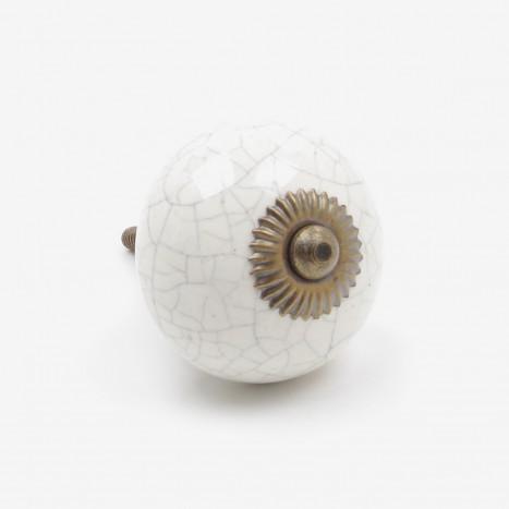 Crackled Owl Egg Cupboard Knob