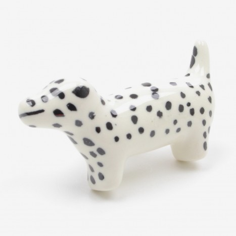 Ceramic Dalmatian Dog Drawer Knob
