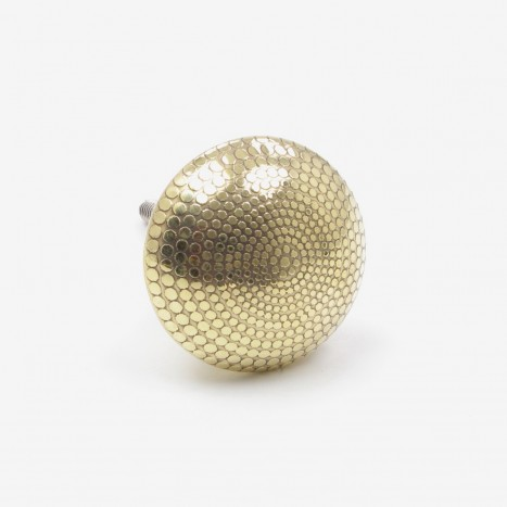 Dotted Brass Drawer Pull