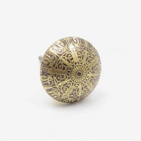 Ornate Brass Drawer Pull