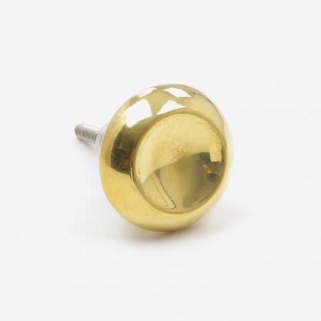 Concaved Metalware Cupboard Knob - Brass