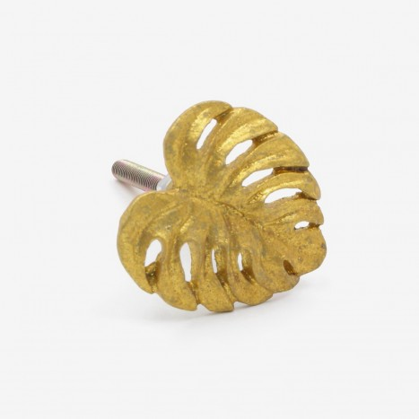 Tropical Jungle Leaf Drawer Knob