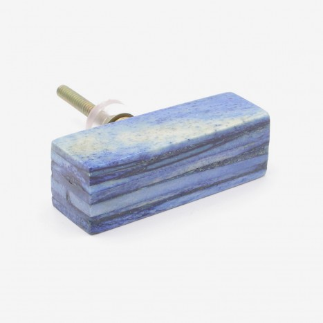 Blue Lumber Drawer Pull