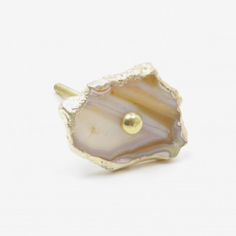 Natural Agate Slice Drawer Pull - Small
