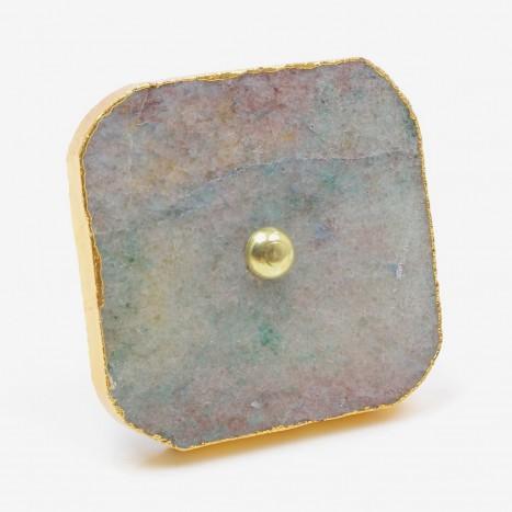 Ocean Blue Square Stone Drawer Pull