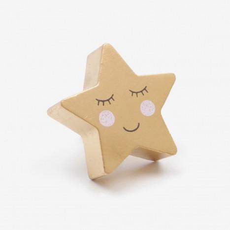 Night Sky Cupboard Knob - Star