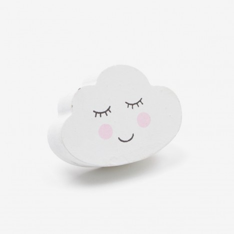 Night Sky Cupboard Knob - Cloud