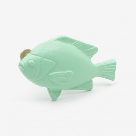Fat Fish Cupboard Knob - Green