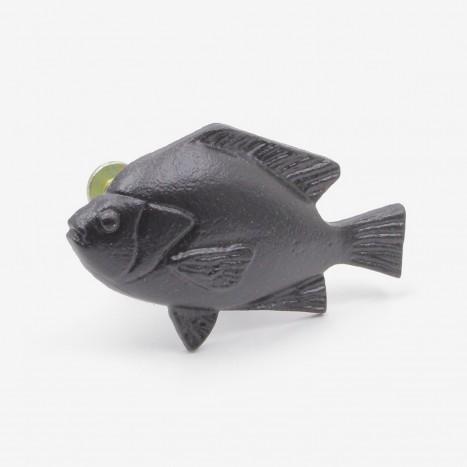Fat Fish Cupboard Knob - Black