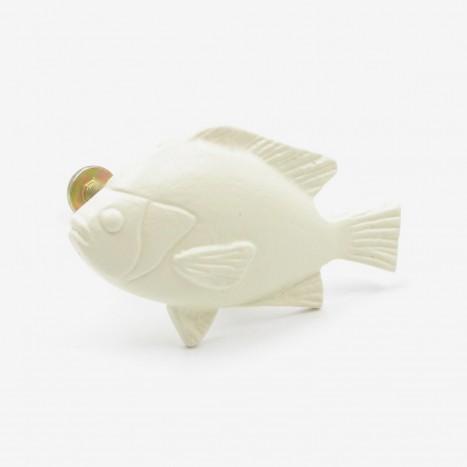 Fat Fish Cupboard Knob - Cream
