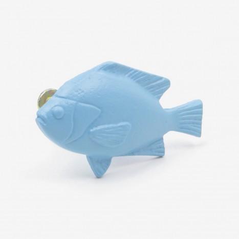 Fat Fish Cupboard Knob - Blue