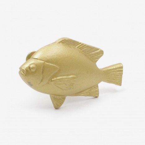 Fat Fish Cupboard Knob - Gold