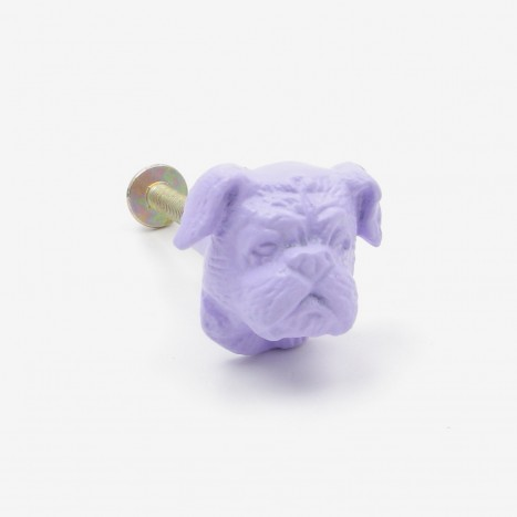 British Bulldog Cupboard Knob - Purple
