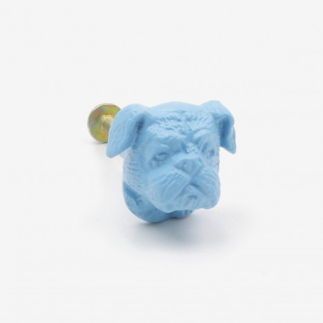 British Bulldog Cupboard Knob - Blue