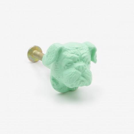 British Bulldog Cupboard Knob - Green