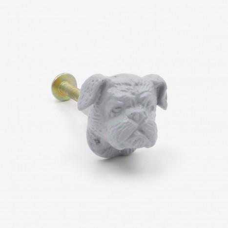 British Bulldog Cupboard Knob - Grey