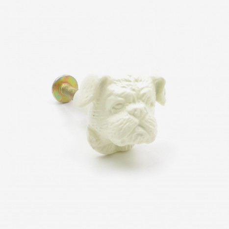 British Bulldog Cupboard Knob - Cream