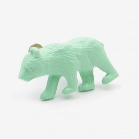 Prowling Bear Cupboard Knob - Green