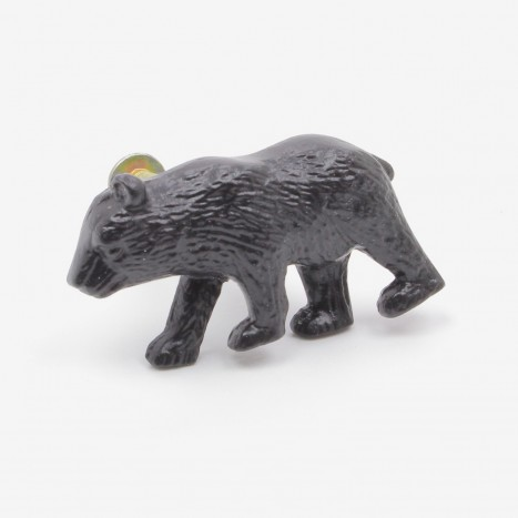 Prowling Bear Cupboard Knob - Black