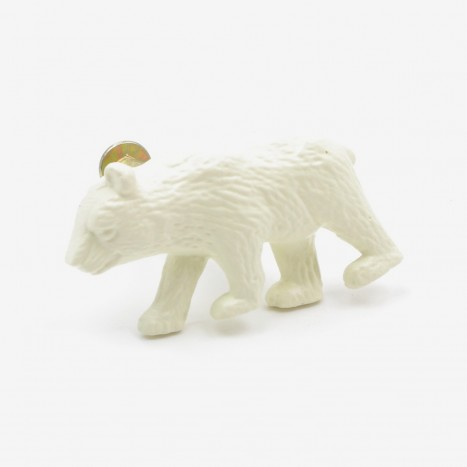 Prowling Bear Cupboard Knob - Cream