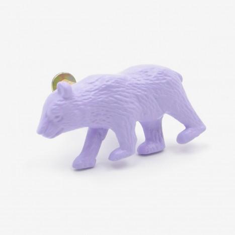 Prowling Bear Cupboard Knob - Purple