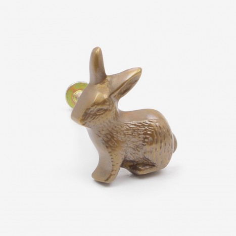 Country Rabbit Cupboard Knob