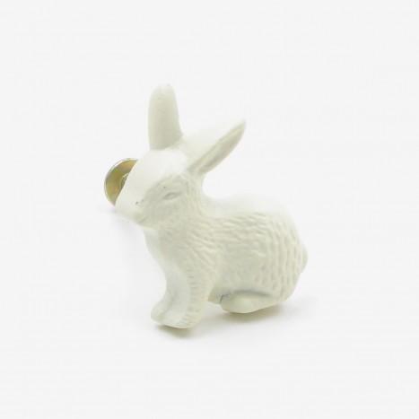 Country Rabbit Cupboard Knob - Cream