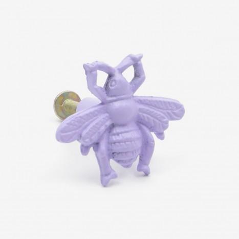 Worker Bee Cupboard Knob - Purple