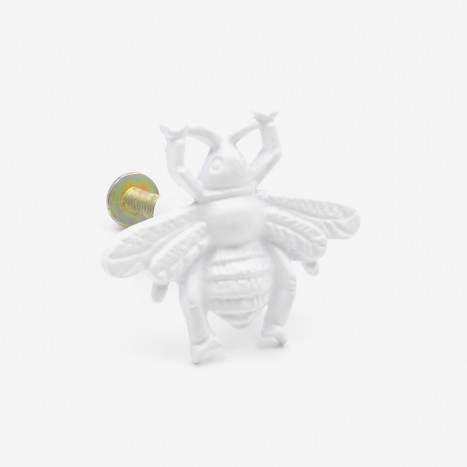 Worker Bee Cupboard Knob - White