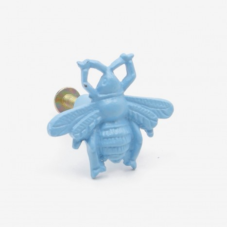 Worker Bee Cupboard Knob - Blue