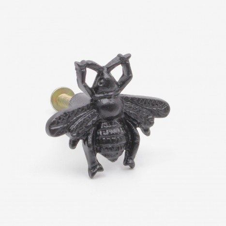 Worker Bee Cupboard Knob - Black