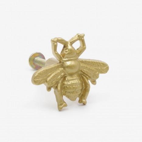 Worker Bee Cupboard Knob - Gold