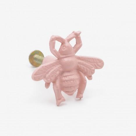 Worker Bee Cupboard Knob - Pink