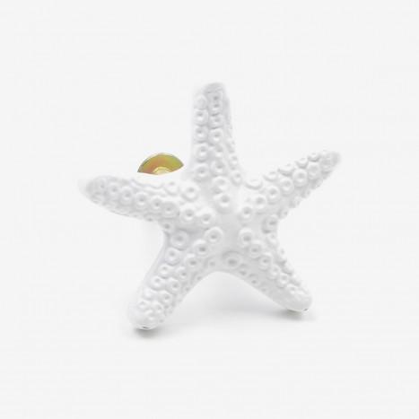 Seaside Starfish Cupboard Knob - White