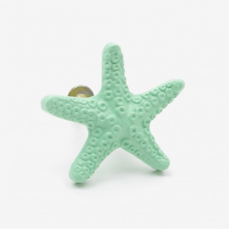 Seaside Starfish Cupboard Knob - Green