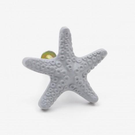 Seaside Starfish Cupboard Knob - Grey
