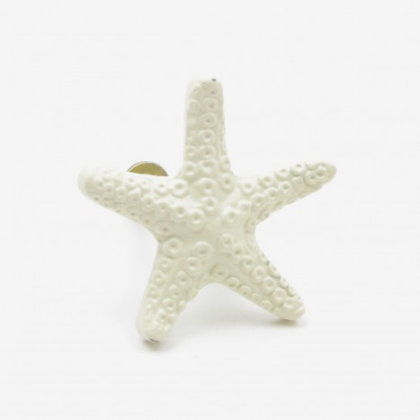 Seaside Starfish Cupboard Knob - Cream