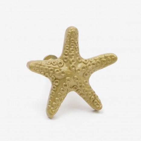Seaside Starfish Cupboard Knob - Gold