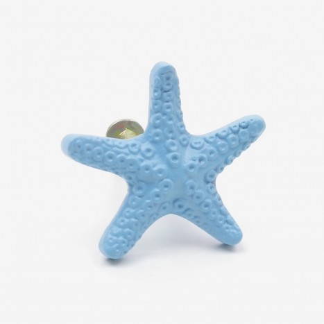 Seaside Starfish Cupboard Knob - Blue