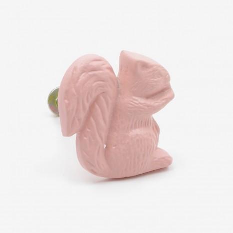 Pink Squirrel Shaped Knob