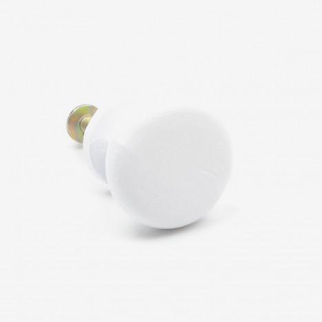 Classic Kitchen Cupboard Knob - White
