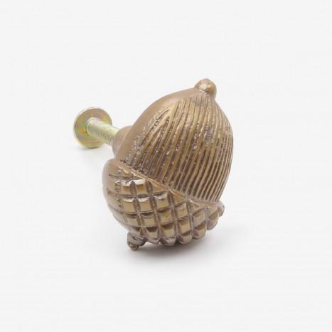 Autumn Acorn Cupboard Knob - Antique Brass